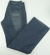 LEADER Blue Jeans Men's Size 32x34 Medium Wash Check Denim