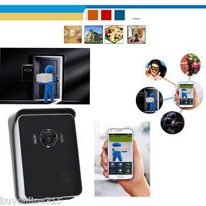 drahtlos wifi t rsprechanlage t rklingel sprechanlage haus sicherheit f r iphone ebay. Black Bedroom Furniture Sets. Home Design Ideas