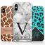 Personalizzato-Leopardo-Stampa-Telefono-Custodia-Cover-Rigida-con-Iniziali miniatura 1