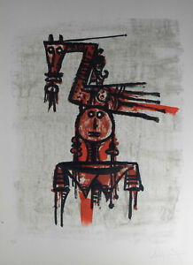 Wifredo Lam without title hand signed E/A