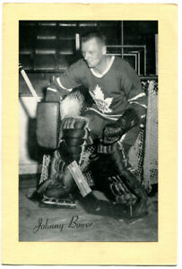1945-64-Beehive-Group-2-Johnny-Bower-Card-Toronto-Maple-Leafs-Nice-Clean