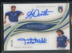 2020 Panini Immaculate ANTONIO CONTE/PAOLO MALDINI Dual Autograph AUTO #/35