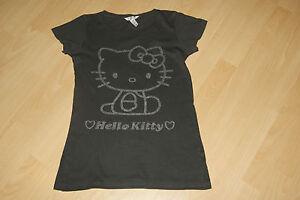 H-amp-M-HelloKitty-tolle-T-Shirt-Gr-158-viele-Glitzersteine