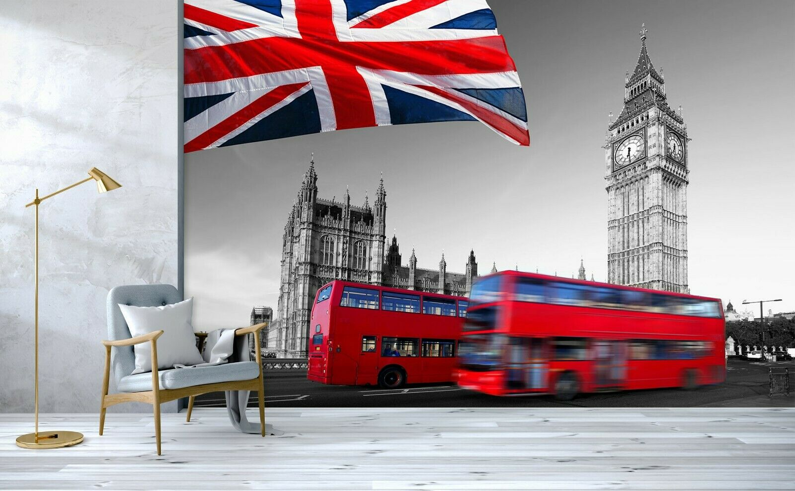 3D London England Bus N590 Transport WandPapier Mural Self-adhesive Removable Amy