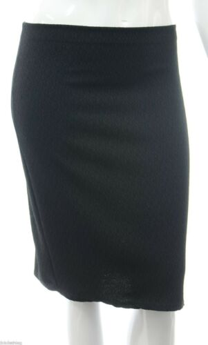 New 12-22 Stretch Black Knee Length Skirt Elastic Waist Womens Office Casual