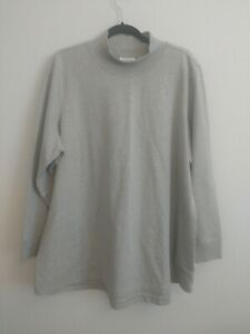 D & Co. Active Top Size 2XL Gray Long Sleeve Front Pockets Tunic Style