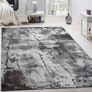 Living Room Rug Grey Luxury Design Small Extra Large Thick
