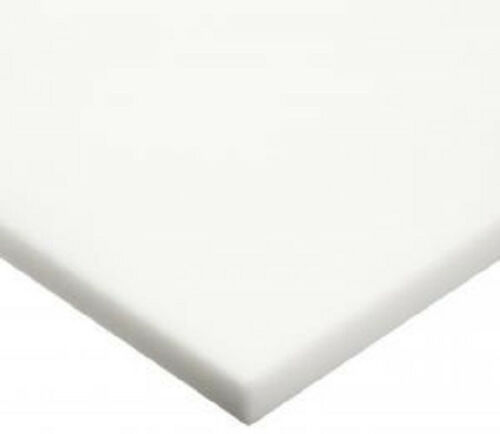 "Nominal HDPE // Sanatec 18/"" x 24/"" x 3//4/"" Thick White Plastic Cutting Board"