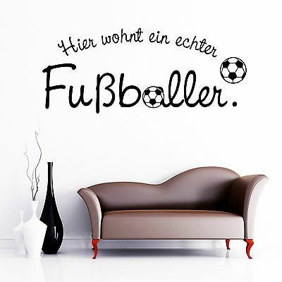 10274 Wandtattoo-Loft® Wandtattoo Fußball Fußballer Sport Team Mannschaft