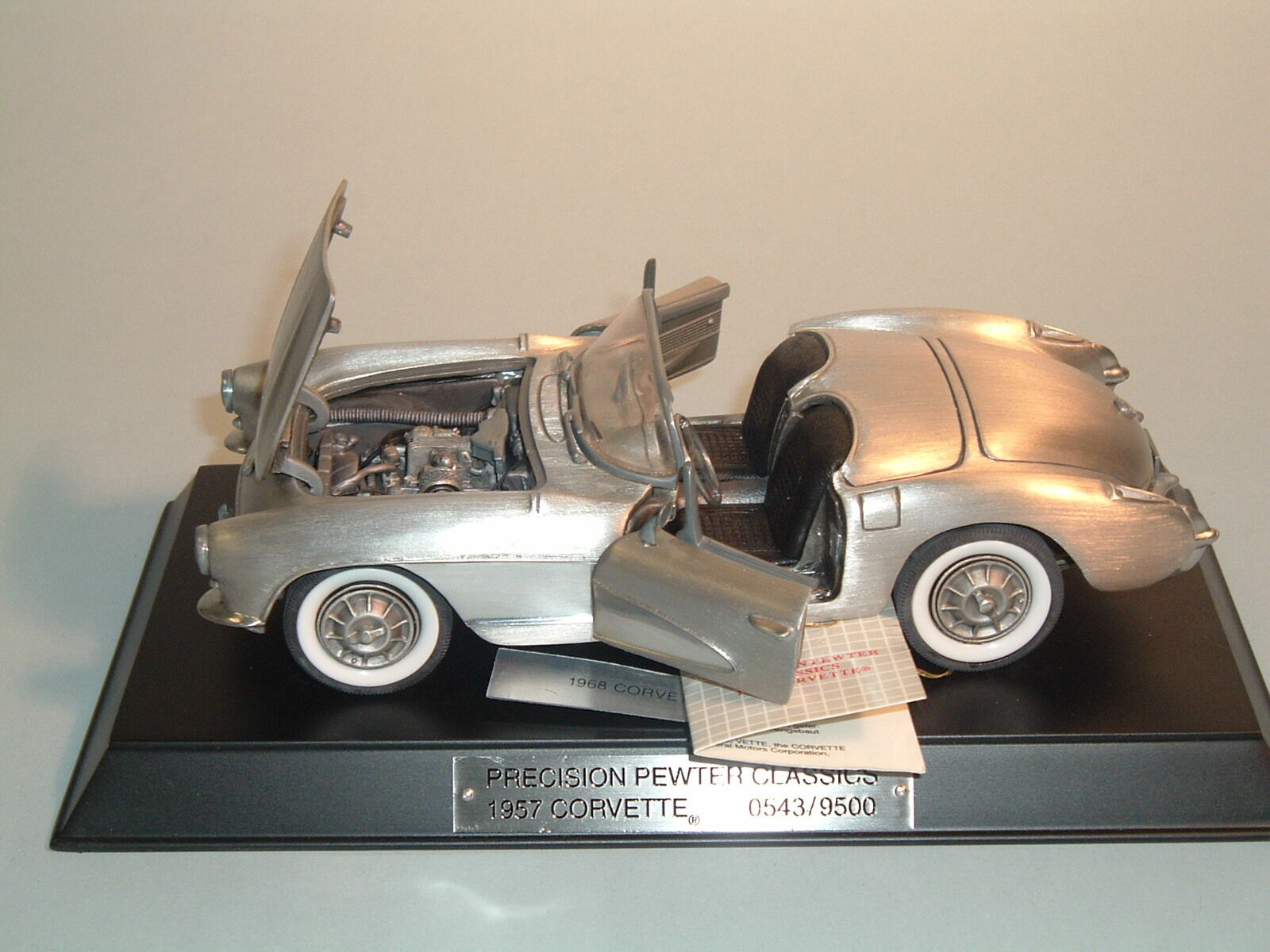 1957 chevrolet corvette mit 24 fuelie franklin mint & dust cover