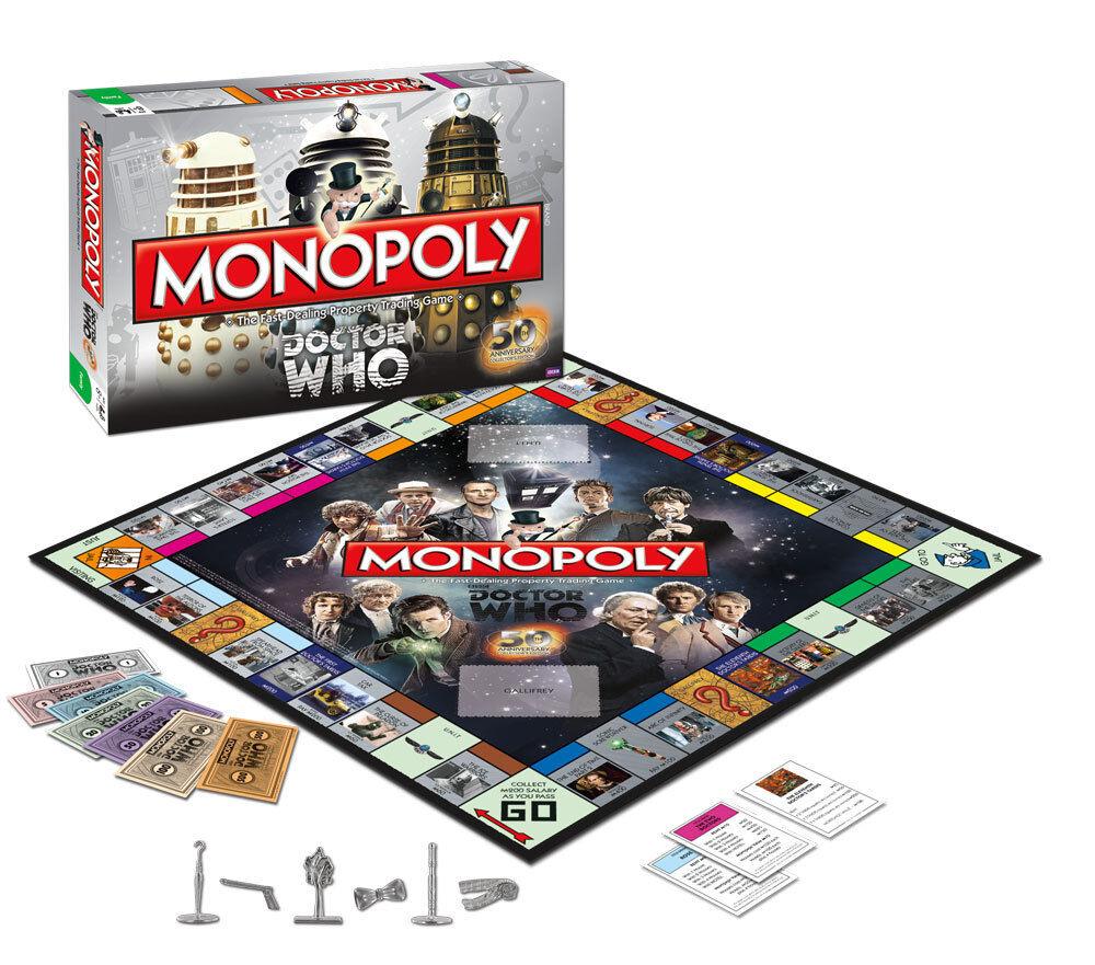 Dr. qui   monopoly - ausgabe sammler - collector 's edition 50. anniversaire
