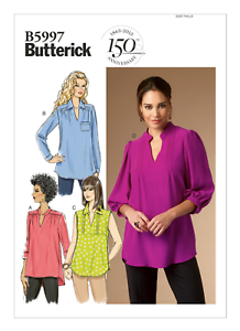 NUEVO top camisa suelta de montaje fácil tamaños de 8-16 Butterick Sewing Pattern 5997
