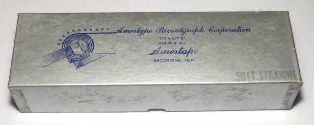 Film 35mm d'enregistrement sonore vierge pour magnétophone Recordgraph WWII