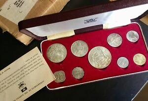 1966-Bahama-Islands-9-Coin-Set-Royal-Mint-2-8-oz-of-SILVER-No-Tax