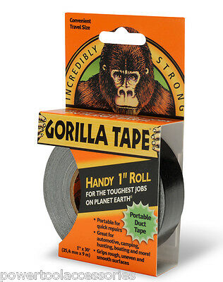 """Gorilla Tape Handy Roll 1"""" wide x 9M Tape to Go Strong Duct tape by Gorilla Glue"""