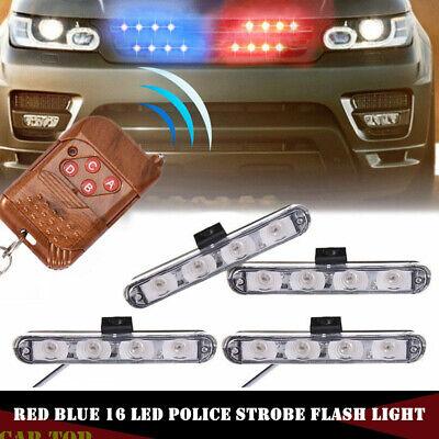 4 Pc Car 6 LED Car Truck Police Strobe Flash Light Emergency Warning Lamp White