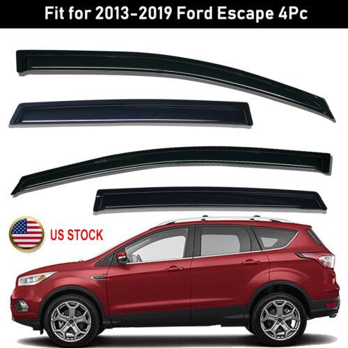 For 2013-2019 Ford Escape Smoke Window Vent Visor Sun Rain Guards Wind Deflector