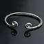 Fashion-Women-925-Sterling-Silver-Hoop-Sculpture-Cuff-Bangle-Bracelet-Jewelry-L7 thumbnail 7