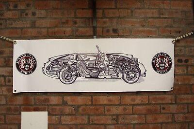 Austin Healey Sprite BANNER workshop garage or classic Car display use
