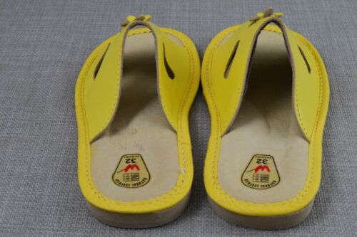 Kids Children Girls Leather Slippers Mules Flip-Flop All Sizes