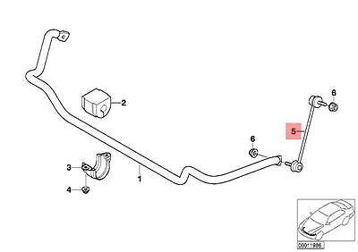 Stabiliser Link Anti Roll Bar Rear for BMW E46 318 316i 318i 98-05 1.9 Genuine
