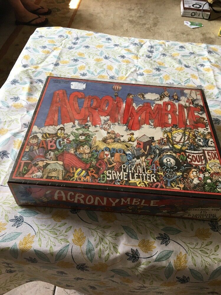 Vintage NEW DAMAGED BOX Acronymble Board Game