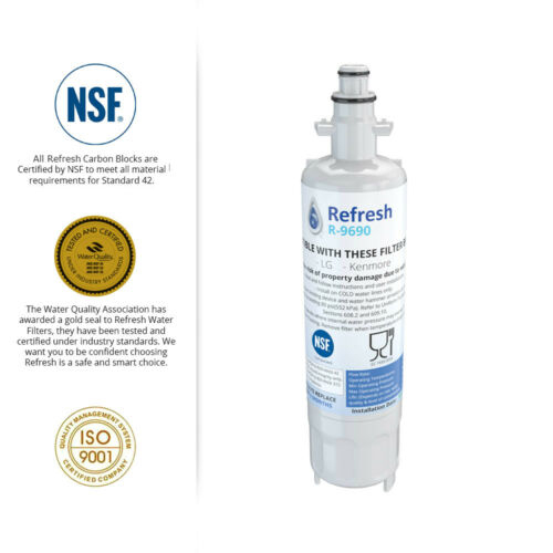 Refresh Replacement Water Filter 4 Pack Fits LG LFX31945ST Refrigerators