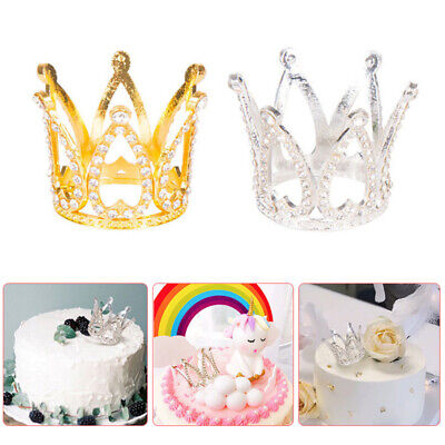 20pcs Crown Cake Picks Cupcake Topper Wedding Baby Shower DIY Bakery Accessories
