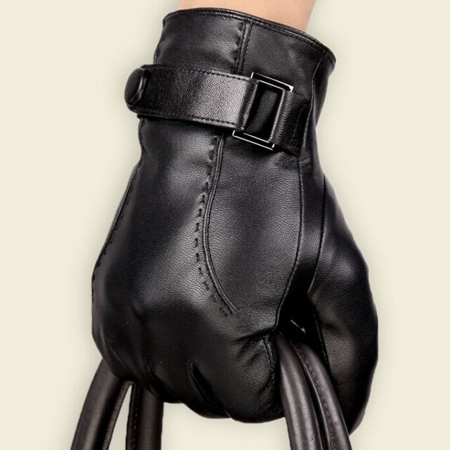 Hot selling Men High Quality100% Genuine Sheepskin Leather Gloves Cashmere Lined