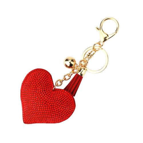 Bling Heart Crystal Bags Decor Keyring Pendant Keychain Handbag Creative Decors