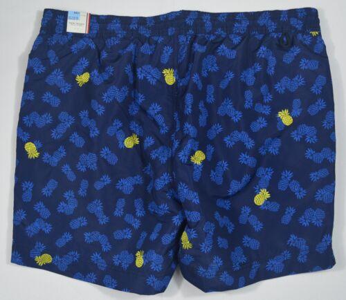 Tommy Hilfiger #5451 NEW Men Elastic Waist Drawstring Lined Pineapple Swim Trunk