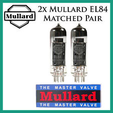 New 2x Mullard EL84 | Matched Pair / Duet / Two | Power Tubes | Free Ship