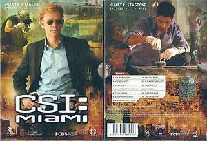 cofanetto 3 dvd CSI MIAMI QUARTA stagione 4 EP. 4.13 - 4.25 - Italia - cofanetto 3 dvd CSI MIAMI QUARTA stagione 4 EP. 4.13 - 4.25 - Italia