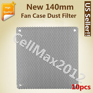 10pcs-140mm-Computer-PC-Dustproof-Cooler-Fan-Case-Cover-Dust-PVC-Filter-Mesh