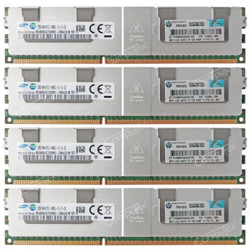 Samsung 128GB 4x32GB 4Rx4 PC3-14900L DDR3-1866Mhz ECC Reg Server LRDIMM Memory