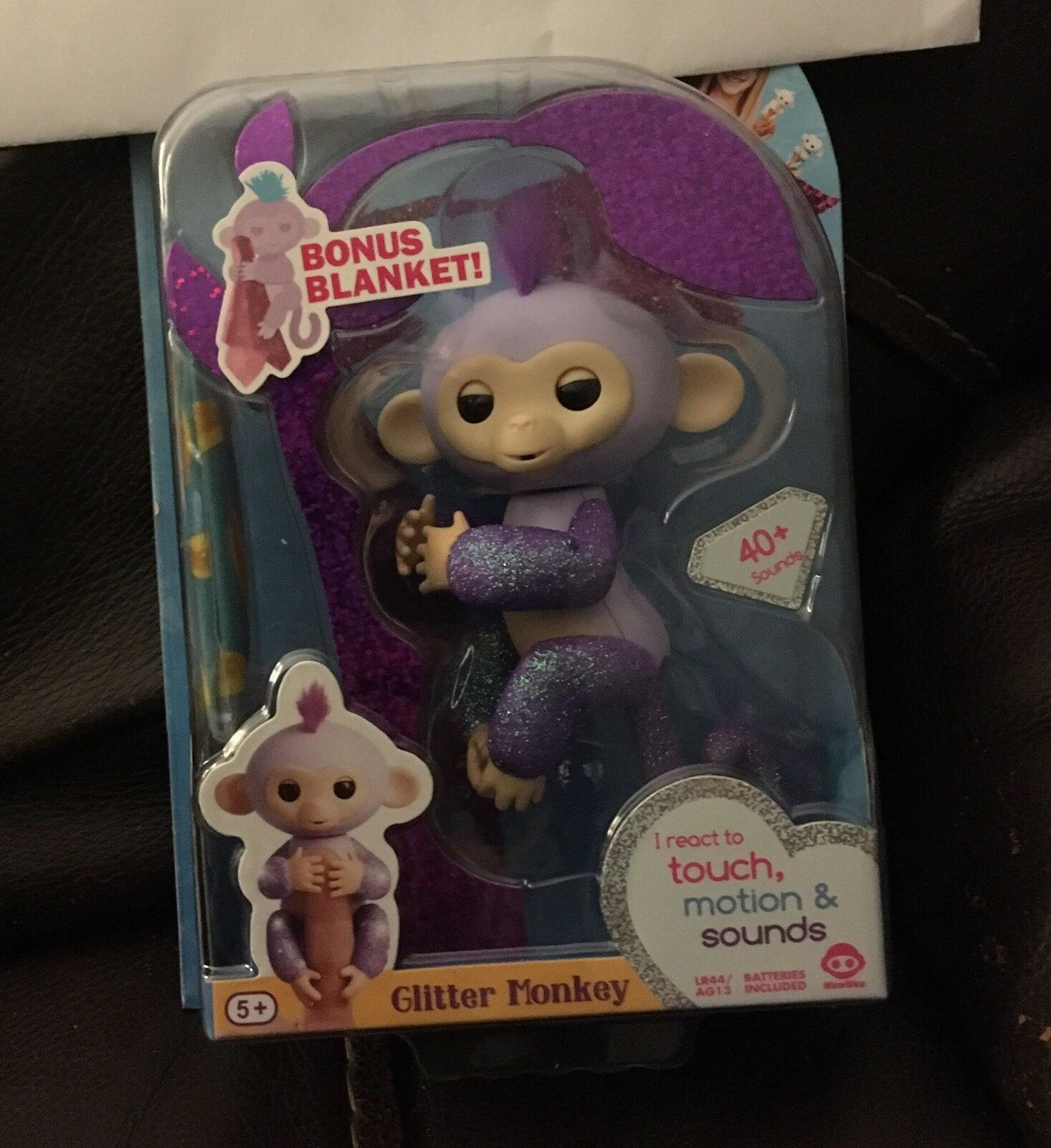 "Authentic WowWee ""Kiki"" Fingerling Amazon Exclusive Purple Glitter Monkey"
