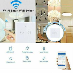 1/2/3/4 Gang WiFi Smart Wall Touch Light Switch Glass Panel APPControl for Alexa