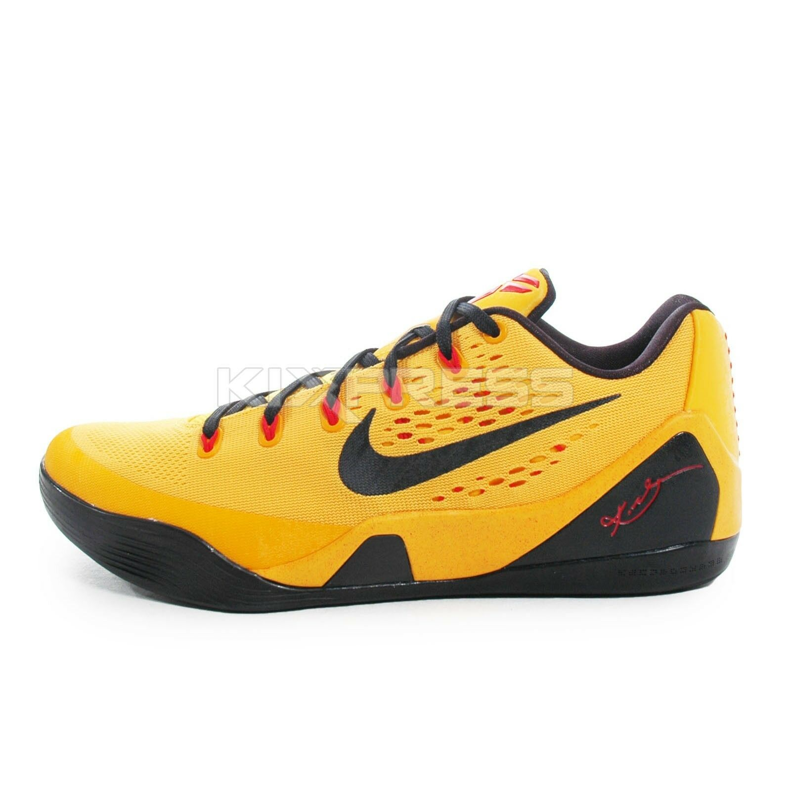 Nike Kobe IX EM  653972-700  Basketball Bruce LEE Gold Black-Crimson ... 2097460dff14