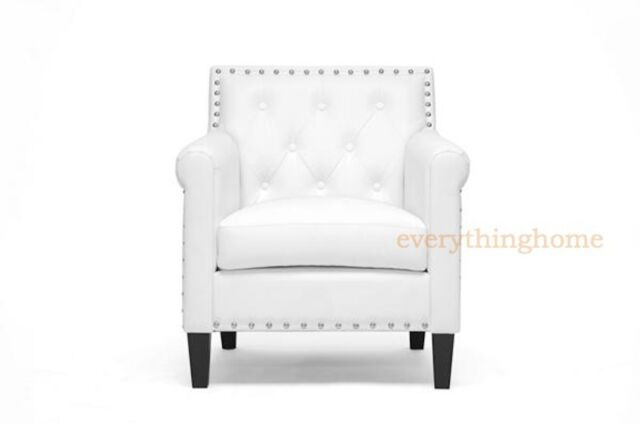Tufted Leatherette Accent Arm Chair