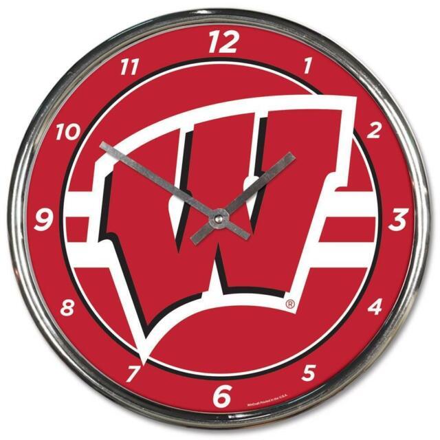 NCAA Georgia Bulldogs WinCraft Official Chrome Clock