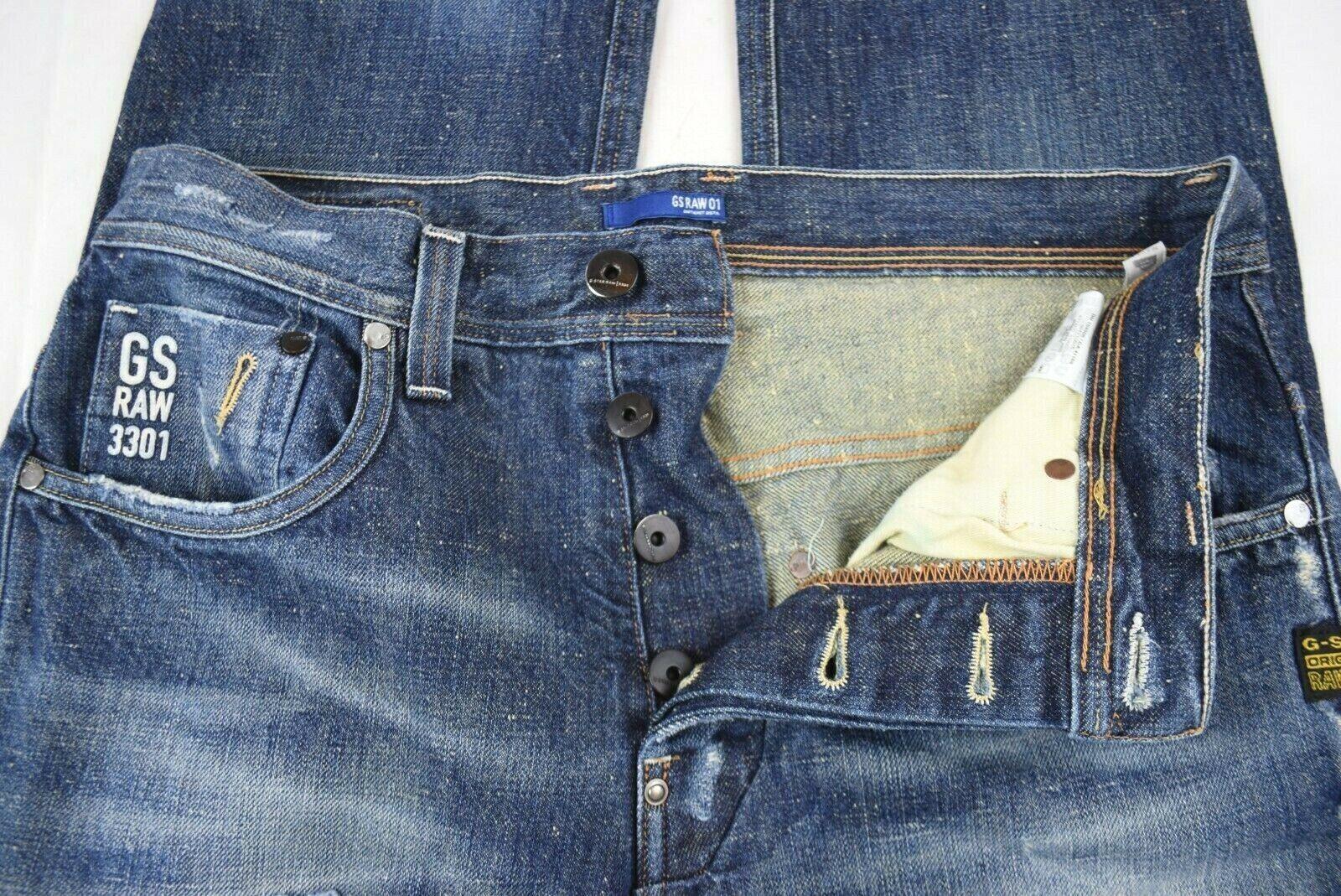 32//32 34//32 G-Star Raw Herren Jeans-Hose Leichter Denim Jeans Hüfthose 30//32
