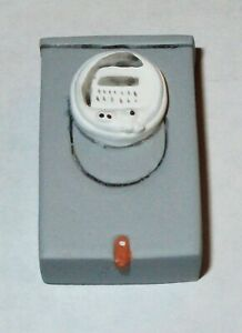 Details about Dollhouse Miniature - Outdoor Electric Meter / Fuse Box on