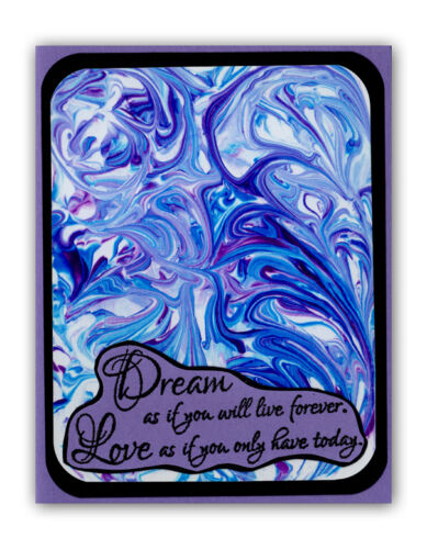 Dream as if.. Mounted rubber stamp #23 Love as if..