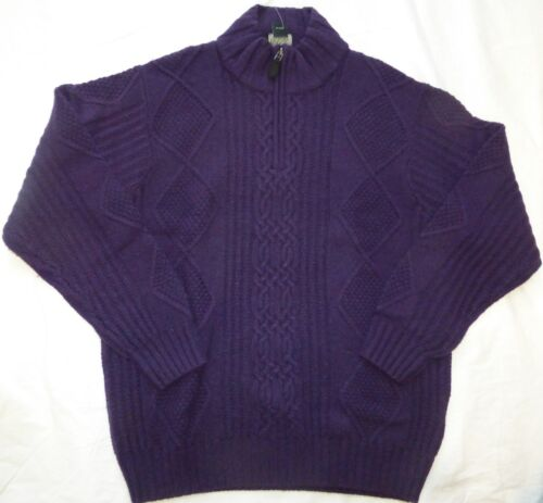 NWT Various BANK Men/'s 1//4 Zip Cable Lambswool Mock Neck Sweater $150 JOS A