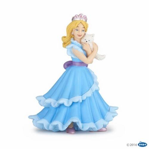 Papo 39125 princesa con gato azul 10 cm decir y cuentos de hadas