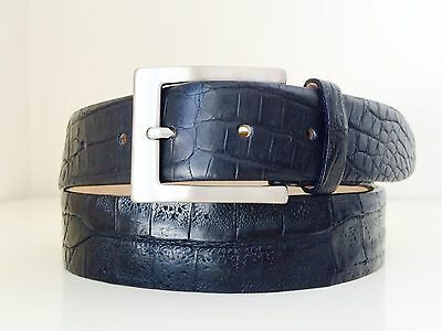 Genuine Real Crocodile skin Leather Men/'s Belt-Antiqued matte gray new 38 40 M L