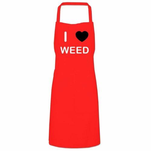 I Love Weed Quality Cooks Bib Apron Choose Colour