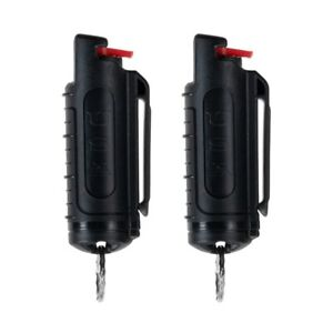 2 Police Magnum pepper spray .50oz black molded keychain self defense protection