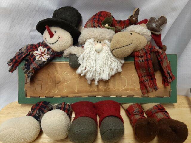 Happy Snowman Stuffed Bunny-Flannel