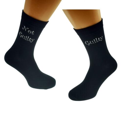 Guilty Not Guilty Mens Black Socks X6N402